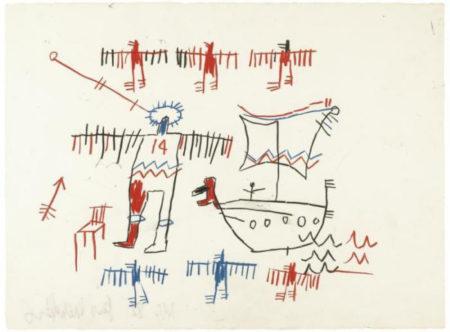 Jean-Michel Basquiat-Untitled (14, Boat)-1982