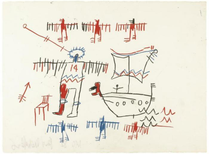 Jean-Michel Basquiat-Untitled (14, Boat)-1982