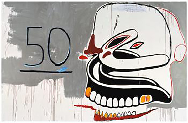 Jean-Michel Basquiat-Untitled (50-dentures)-1984