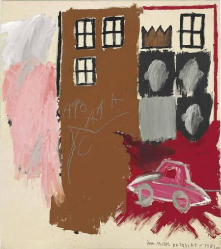 Jean-Michel Basquiat-Untitled (AAA Red Car)-1981