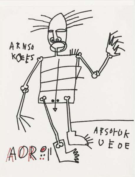 Jean-Michel Basquiat-Untitled (AOR, Stickman)-