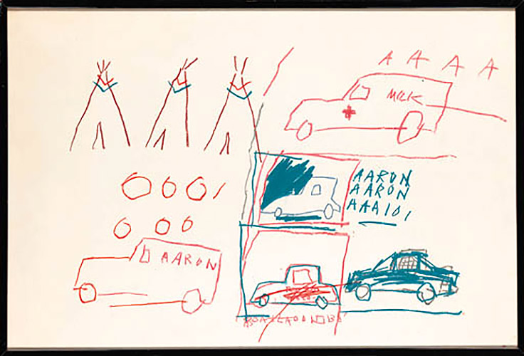 Jean-Michel Basquiat-Untitled (Aaron Medical Cars)-1981