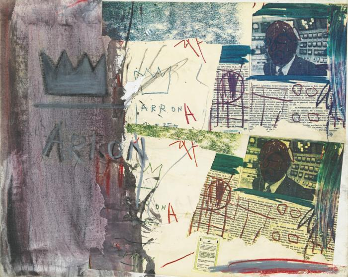Jean-Michel Basquiat-Untitled (Aaron Poster)-1981