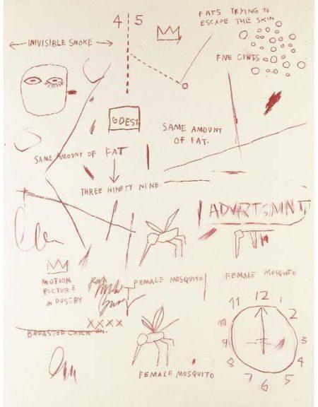 Jean-Michel Basquiat-Untitled (Advrtsmnt)-1983