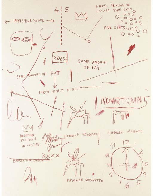 Jean-Michel Basquiat-Untitled (Advrtsmnt)-1983