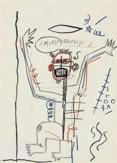 Jean-Michel Basquiat-Untitled (Amorsite)-1982