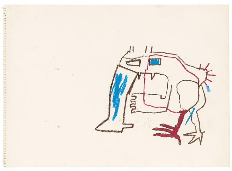 Jean-Michel Basquiat-Untitled (Animal)-1981