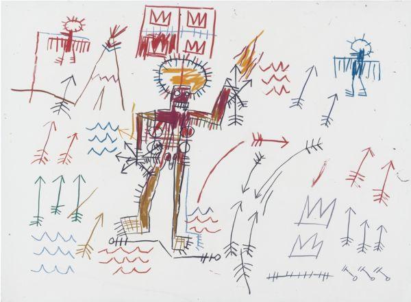 Jean-Michel Basquiat-Untitled (Arrows)-1982