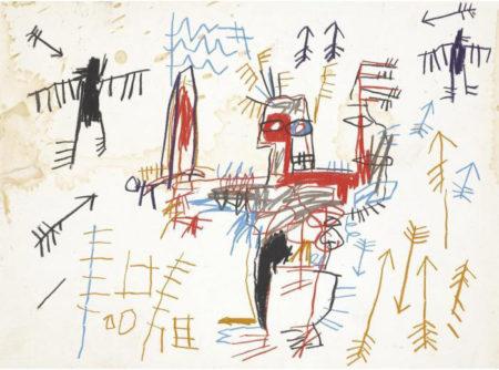 Jean-Michel Basquiat-Untitled (Arrows 2)-1982