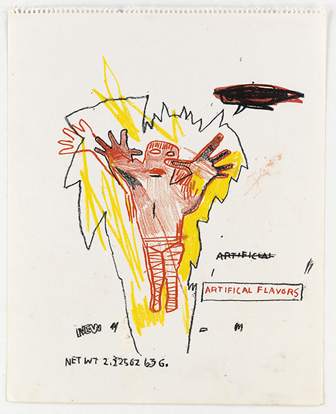 Jean-Michel Basquiat-Untitled (Artifical Flavors)-