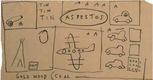 Jean-Michel Basquiat-Untitled (Asbestos)-1981