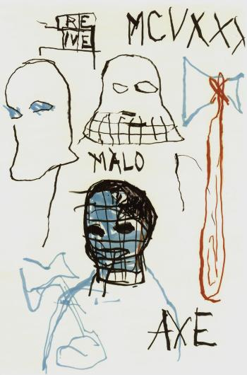 Jean-Michel Basquiat-Untitled (Axe)-1984