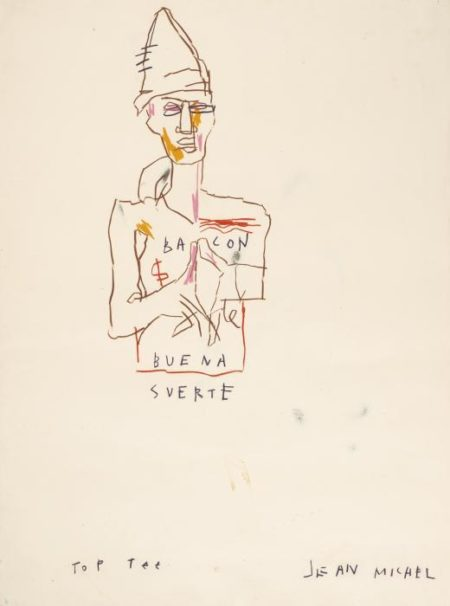 Jean-Michel Basquiat-Untitled (Bacon Buena Suerte)-1982