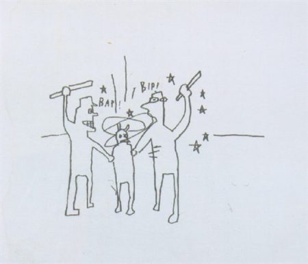 Jean-Michel Basquiat-Untitled (Bap! Bip!)-