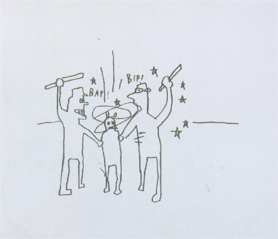 Jean-Michel Basquiat-Untitled (Bap! Bip!)-