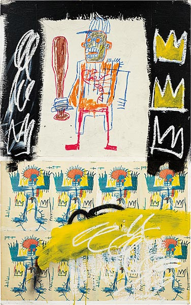 Jean-Michel Basquiat-Untitled (Baysball Bat)-1981