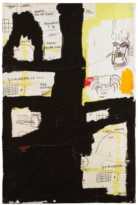 Jean-Michel Basquiat-Untitled (Binary)-1983