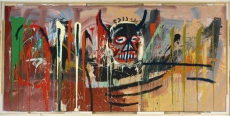 Jean-Michel Basquiat-Untitled (Black Devil Head)-1982