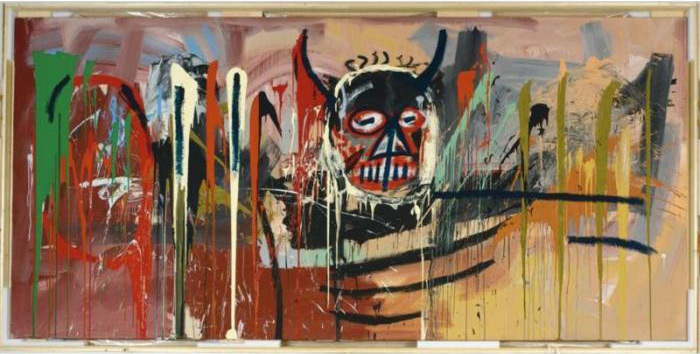Jean-Michel Basquiat-Untitled (Black Devil Head)-1982