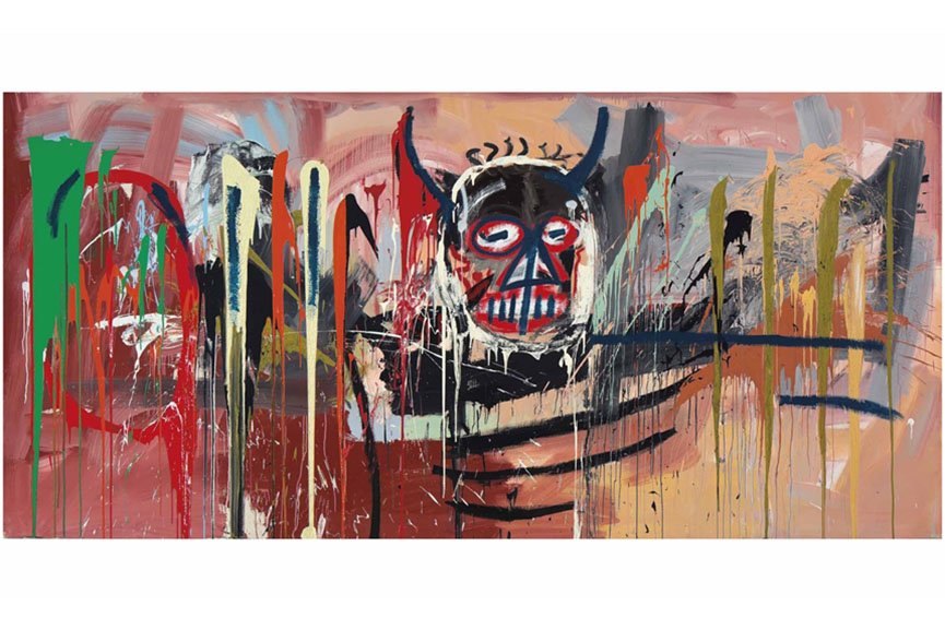 Jean-Michel Basquiat - Untitled (Black Devil Head)