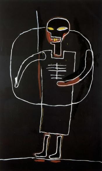 Jean-Michel Basquiat-Untitled (Black Figure)-1984