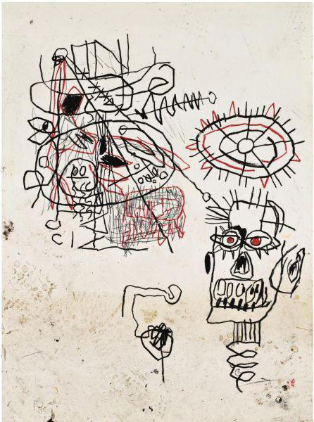 Jean-Michel Basquiat-Untitled (Black Frisby)-1980