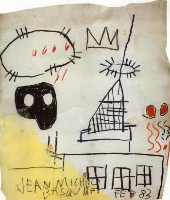 Jean-Michel Basquiat-Untitled (Black Head 46666)-1983