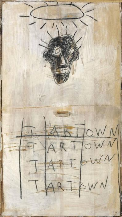 Jean-Michel Basquiat-Untitled (Black Head Tart Town)-1981