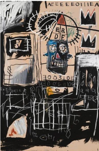 Jean-Michel Basquiat-Untitled (Black King AEEEE)-1981