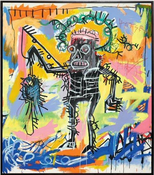 Jean-Michel Basquiat-Untitled (Black King Catch Scorpio)-1981