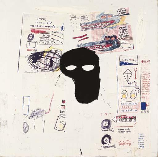 Jean-Michel Basquiat-Untitled (Black Mask 2)-1984