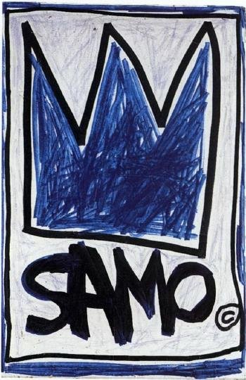 Jean-Michel Basquiat-Untitled (Blue Crown)-