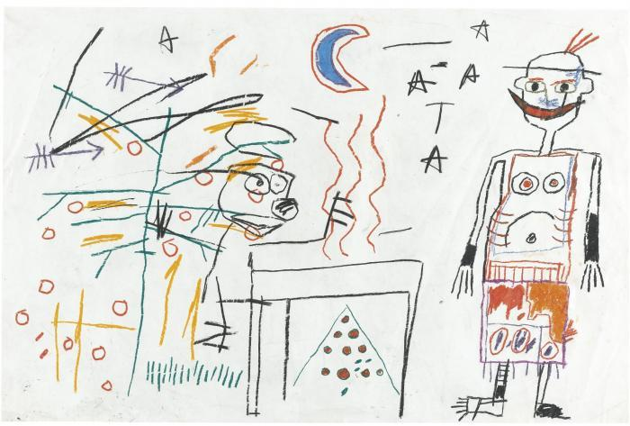 Jean-Michel Basquiat-Untitled (Blue Moon)-1986