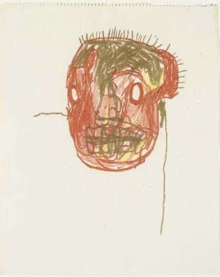 Jean-Michel Basquiat-Untitled (Browny Head)-1983