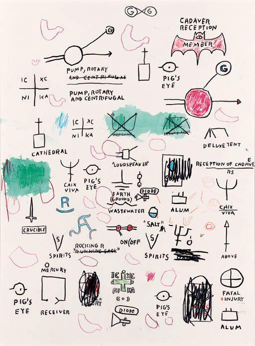 Jean-Michel Basquiat-Untitled (Cadaver Reception)-1987