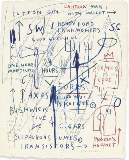 Jean-Michel Basquiat-Untitled (Carton Man With Mallet)-1985