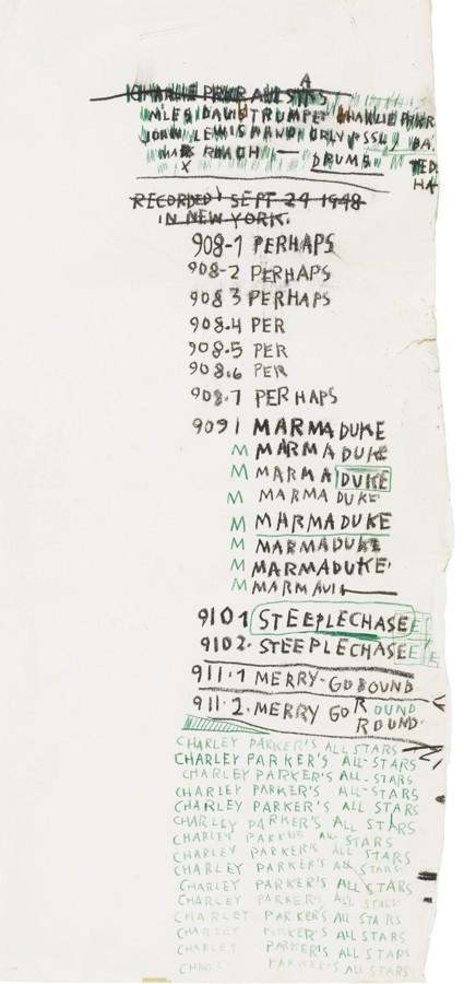 Jean-Michel Basquiat-Untitled (Charlie Parker'S All Stars)-1983