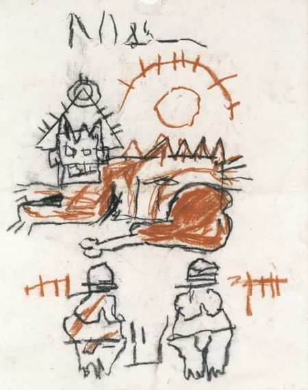 Jean-Michel Basquiat-Untitled (Chinken Leg)-1982