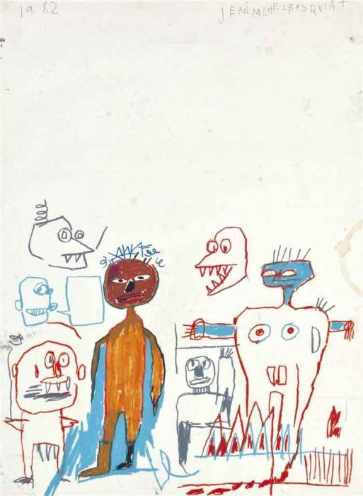Jean-Michel Basquiat-Untitled (Clown Crue)-1982