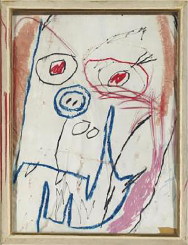Jean-Michel Basquiat-Untitled (Creature Face)-1982