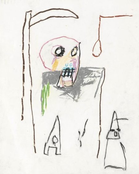 Jean-Michel Basquiat-Untitled (Death)-1982