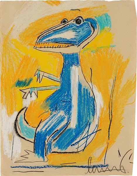Jean-Michel Basquiat-Untitled (Dinasaur)-1982