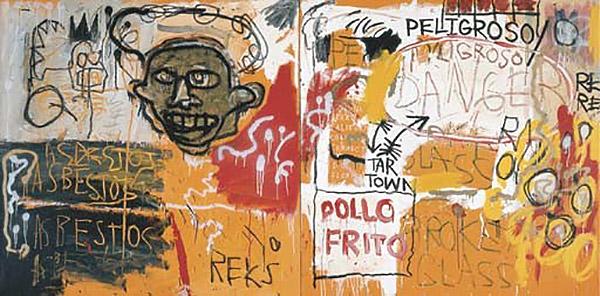 Jean-Michel Basquiat-Untitled (Diptych)-1982