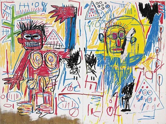 Jean-Michel Basquiat-Untitled (Diptych)-1982