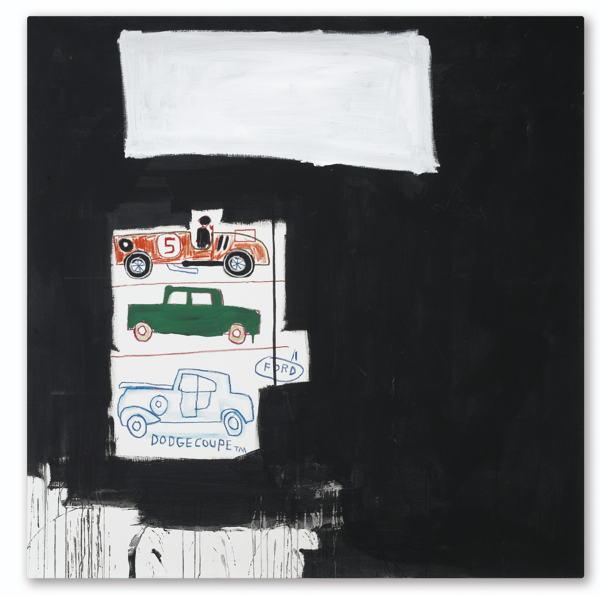 Jean-Michel Basquiat-Untitled (Dodge Coupe)-1986