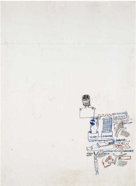 Jean-Michel Basquiat-Untitled (Drawing in Right Bottom Corner)-1980