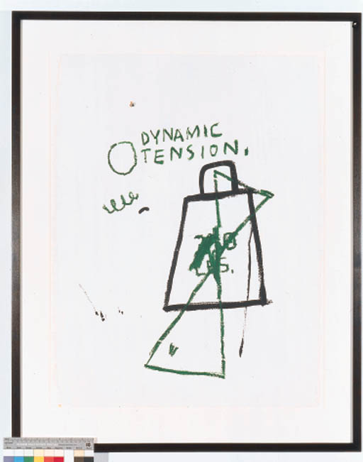 Jean-Michel Basquiat-Untitled (Dynamic Tension)-