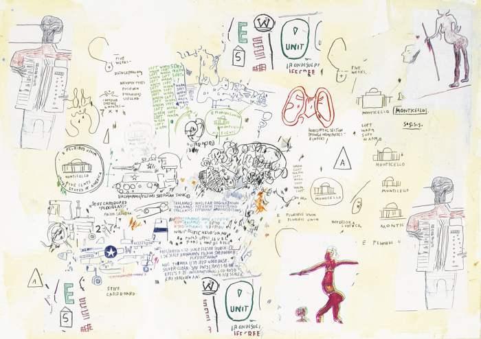 Jean-Michel Basquiat-Untitled (E Pluribus Unim)-1986