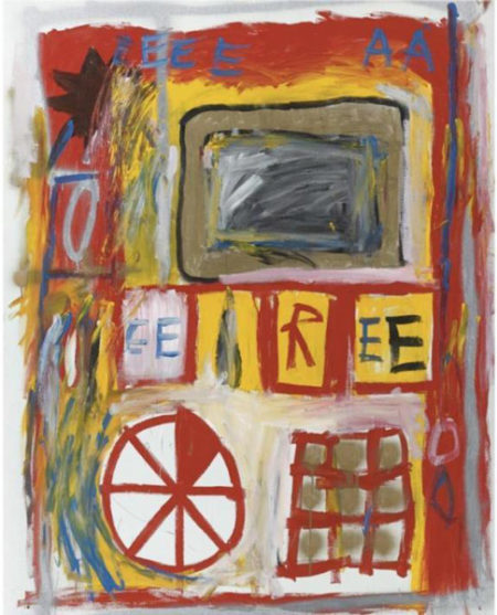 Jean-Michel Basquiat-Untitled (EE R EE Wheel)-1981