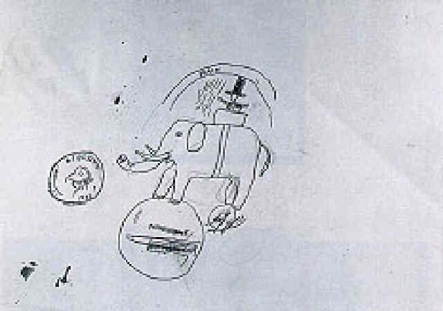 Jean-Michel Basquiat-Untitled (Elephant)-1987